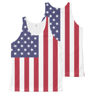 National Flag of the United States of America USA All-Over-Print Tank Top