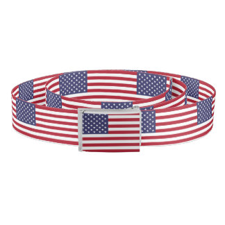 """National Flag of the United States of America USA Belt"