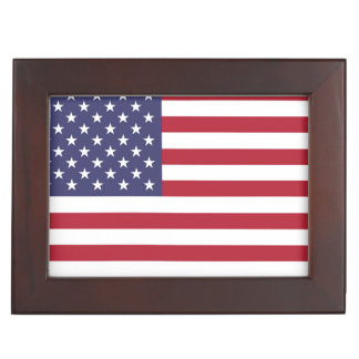 """National Flag of the United States of America USA Keepsake Box"