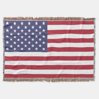 """""""National Flag of the United States of America USA Throw Blanket"""