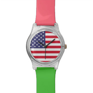 National Flag of the United States of America Wrist Watch