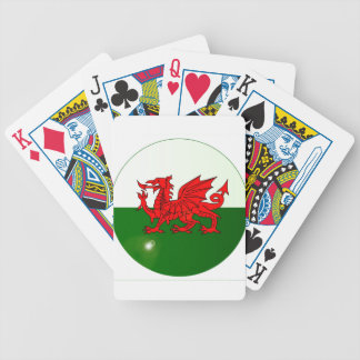 National Flag of Wales Button Bicycle Playing Cards