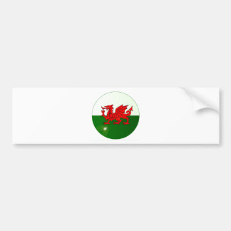 National Flag of Wales Button Bumper Sticker