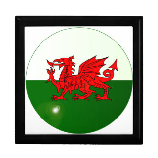 National Flag of Wales Button Gift Box