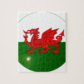 National Flag of Wales Button Jigsaw Puzzle