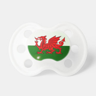 National Flag of Wales Button Pacifier