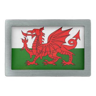 National Flag of Wales Button Rectangular Belt Buckles
