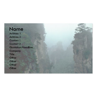 National forest park, Wuling Mountain, Hunan provi Business Card Templates