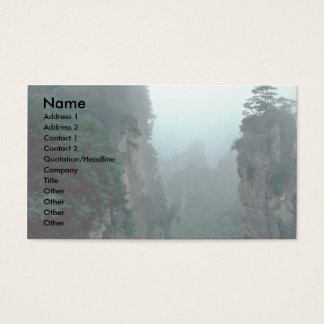 National forest park, Wuling Mountain, Hunan provi Business Card