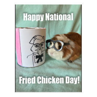 National fried chicken day postcard