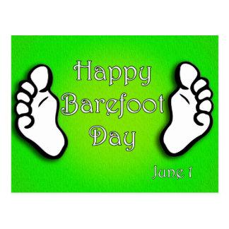 National Go Barefoot Day June 1 Postcard