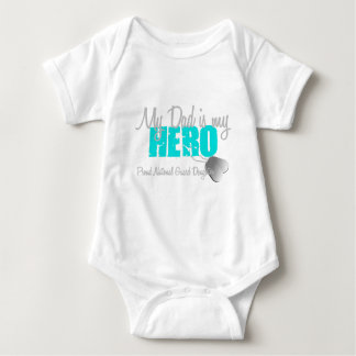 National Guard Daughter Dad is Hero Baby Bodysuit
