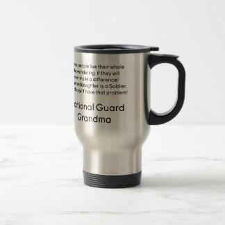 National Guard Grandma Granddaughter No Problem Travel Mug