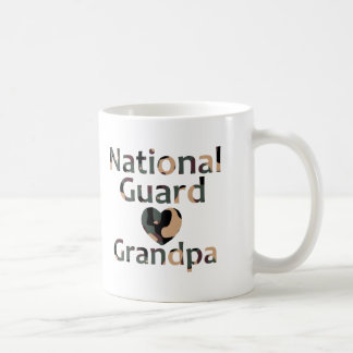 National Guard Grandpa Heart Camo Coffee Mug