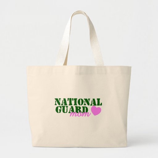 National Guard Mom Green Pink Canvas Bag