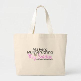 National Guard Mom Hero Large Tote Bag