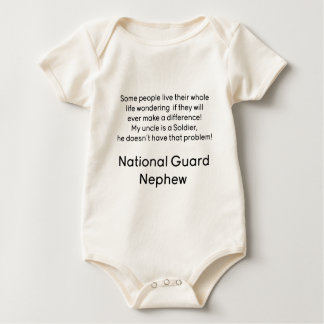 National Guard Nephew No Problem Uncle Baby Bodysuit