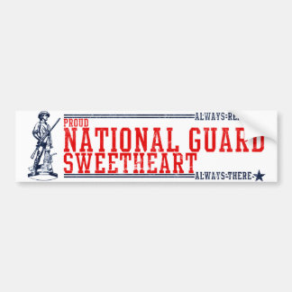National Guard Sweetheart T-Shirts and Gifts Bumper Sticker