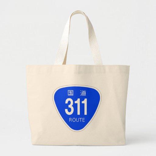 National highway 311 line - national highway sign tote bag