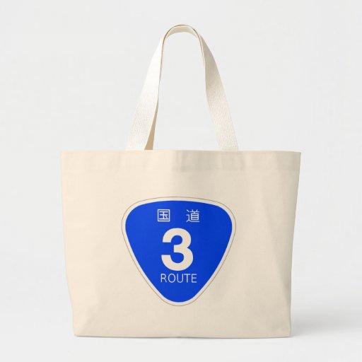 National highway 3 line - sign tote bag