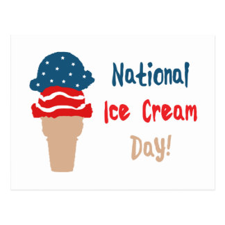 National Ice Cream Day Postcard