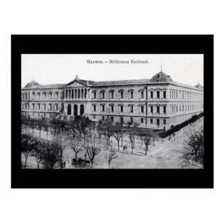National Library, Madrid, Spain c1910 Vintage Postcard