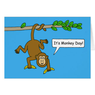 National Monkey Day December 14th Card