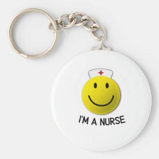 National Nurses Day I'm A Nurse Emoji Keychain