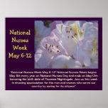 National Nurses Week May 6-12 Floral Poster Custom