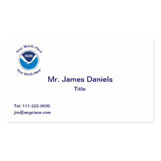 National Oceanic and Atmospheric Administration Business Card