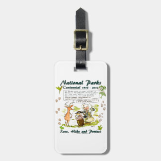 National Park Centennial Photographer Cartoon Bag Tag
