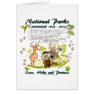 National Park Centennial Photographer Cartoon Card