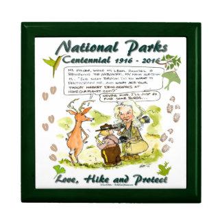 National Park Centennial Photographer Cartoon Trinket Box