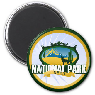 National Park Nerd - Desert 2 Inch Round Magnet
