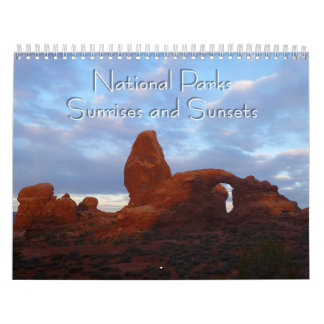National Parks Sunrises and Sunsets Calendars