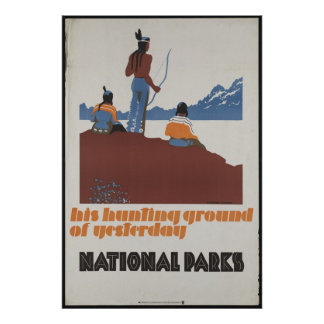 National Parks Vintage Travel Poster Ad Retro