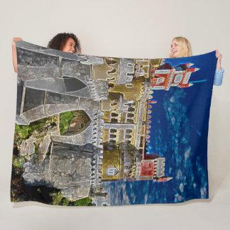 National Pena Palace, Sintra, Portugal Acrylic Art Fleece Blanket
