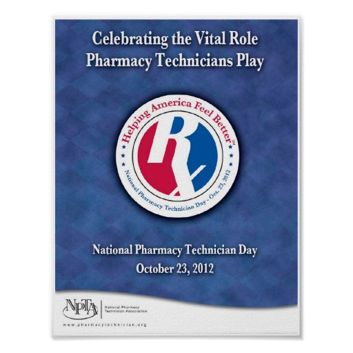 National Pharmacy Technician Day 2012 Poster Zazzle Ca