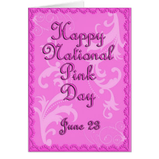 National Pink Day June 23 Card