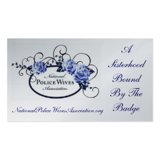 National Police Wives Association Referral Card Business Card Template
