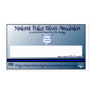 National Police Wives Association Referral Cards Business Card