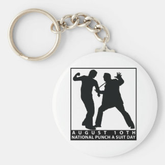 NATIONAL PUNCH A SUIT DAY BASIC ROUND BUTTON KEYCHAIN