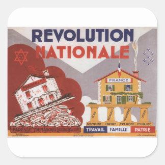 National Revolution Propaganda Poster Square Sticker