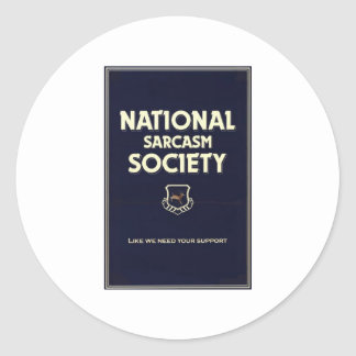 National-Sarcasm-Society Classic Round Sticker