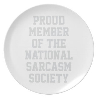 National Sarcasm Society Dinner Plate
