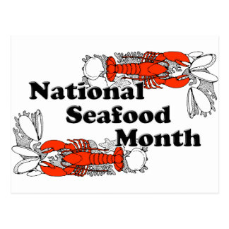 National  Seafood Month Postcard