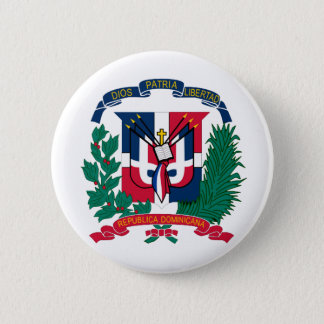 National Seal of The Dominican Republic 2 Inch Round Button