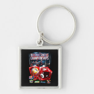 National Singles Championships - Dice Design Keychain