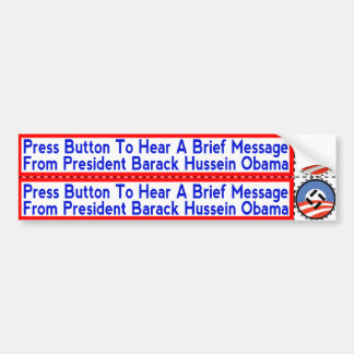 National Socialist Obama Stickers for Hand-Dryers Bumper Sticker