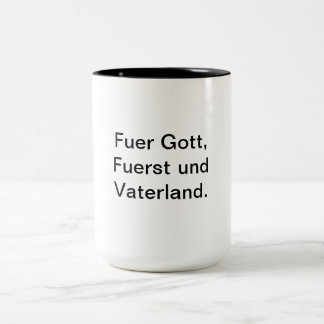 National Sovereignty must stay for Liechtenstein Two-Tone Coffee Mug